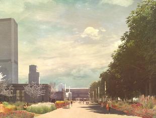 Aorta Warszawy. Tymczasowy park pod Pałacem Kultury